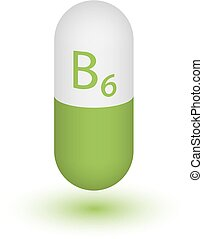 pictogram, tabletten, b6., vitamine