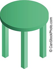 pictogram, tafel, isometric, stijl, ronde