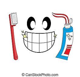 pictogram, tandenborstel