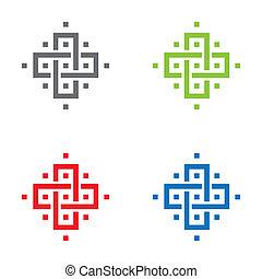 pictogram, van een stam, kruis