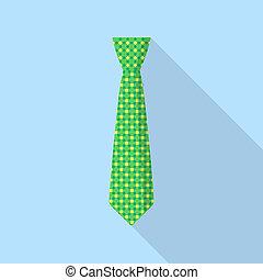 pictogram, vastknopen, stijl, groene, plat