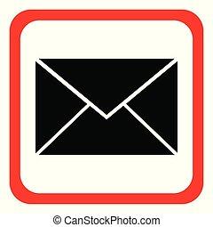 pictogram, vector, brief, achtergrond., illustration., witte