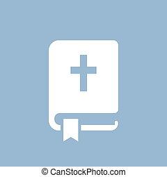 pictogram, vektor, biblia