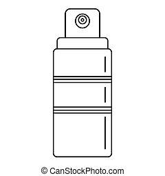 pictogram, verpulveren, sunscreen, stijl, schets