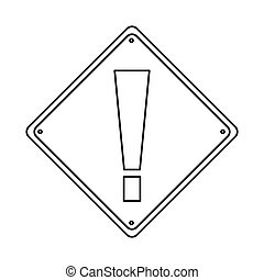 pictogram warning alert attention sign icon