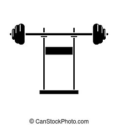 pictogram weight barbell equipment fitness gym