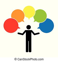 pictogram with colorful question mark sign icon speech bubble symbol