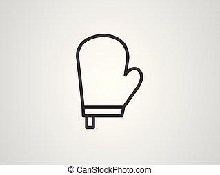 pictogram, ymbol, oven, handschoen, tekens & borden