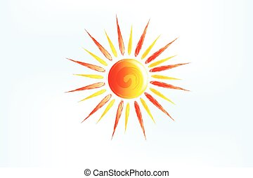 pictogram, zon, logo