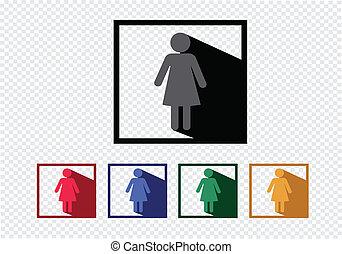 pictograma, ícones correia fotorreceptora, móvel, pessoas, aplicações, sinais