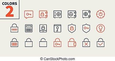 pictogramme, simple, 24x24, serrures, stroke., prêt, parfait, toile, 48x48, icônes, apps, clés, well-crafted, pixel, minimal, 1-1, esquissé, editable, partie, grille, graphiques, ligne, vecteur, mince