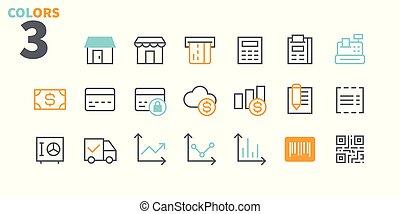 pictogramme, simple, 24x24, stroke., prêt, parfait, toile, 48x48, icônes, apps, well-crafted, pixel, minimal, achats, 1-2, editable, partie, grille, graphiques, ligne, vecteur, mince