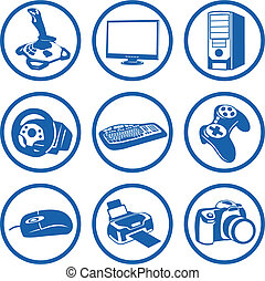Pictogrammes electronics. - Vector art in EPS format. All...