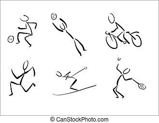 pictograms, スポーツ, stickmans