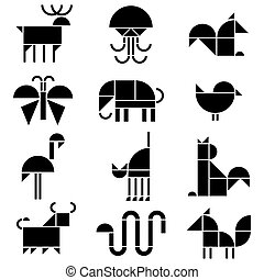 pictograms, animaux