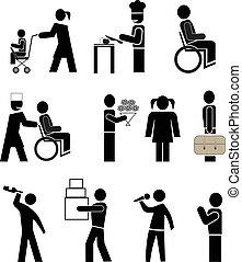 pictograms, emberek