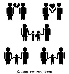 pictograms, famille