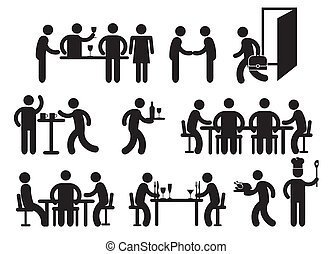 pictograms, restaurant