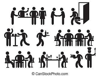 pictograms, ristorante