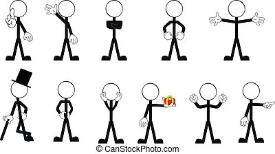 pictograms stick man vector set 2 - pictograms stick man...