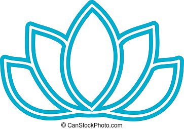 Pictograph of lotus flower blue vector yoga