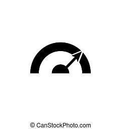 Pictograph of speedometer. vector illustration black on white background