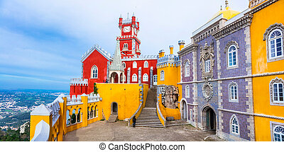 pictorial, sintra, forteresse, portugal.