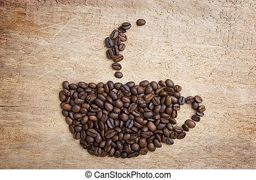 Picture a cup of coffee made from beans
