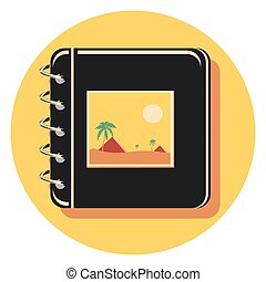 picture album circle icon with shadow.eps