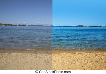 picture before and after the image editing process - picture...