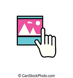 picture file with hand mouse cursor