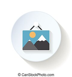 Picture flat icon