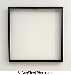 A close up shot of a hanging picture frame