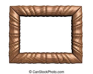 Picture frame - A wood frame isolated on white