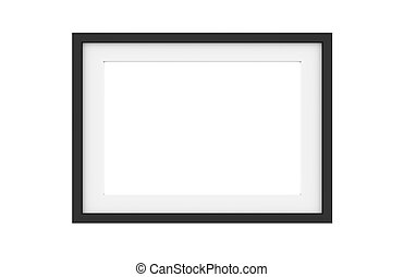 Black picture frame isolated on white
