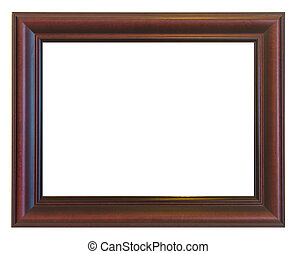 Picture frame brown wood frame isolated