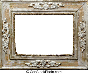frame - picture frame close up on white background