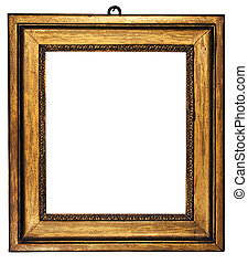 Picture Frame Cubic - Cubic, gold plated empty picture frame...