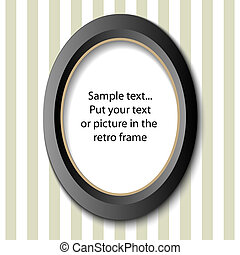 picture frame - Picture frame in retro design, for your text...