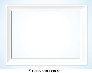 Picture Frame - White Picture Frame - Horizontal Vector...