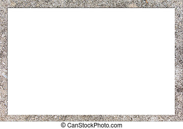 picture frame form Concrete Block Wall