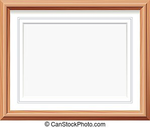 Picture Frame Horizontal Wooden