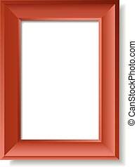 Picture Frame - Vector Illustration of Semi-Realistic...