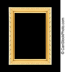 picture frame isolated on the black background