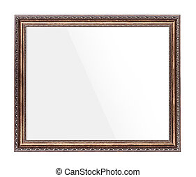 Picture frame isolated.