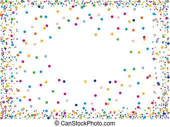Confetti - Picture Frame made of Confetti