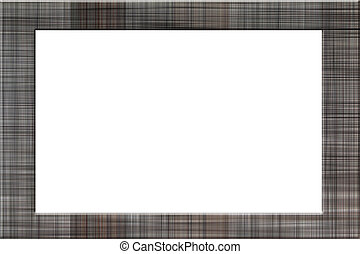 Picture Frame of plaid pattern.