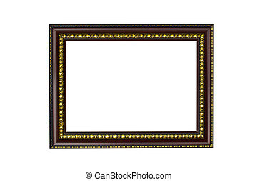 Picture frame on a white background