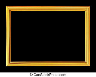 picture frame on black background.