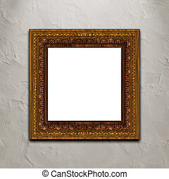 Picture frame on wall.